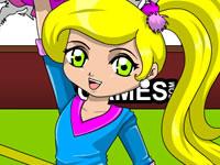 Pom Pom Cheerleader Coloring
