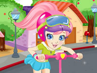 Polly Pocket Scooter Racer