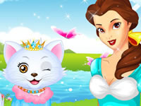 Princess Belle's Kitten Caring