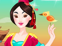 Cute Mulan Royal Dressup