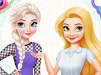 Elsa Vs Rapunzel Fashion Game