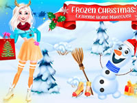 Frozen Christmas Extreme House Makeover