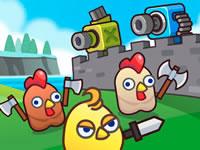 Merge Cannon - Chicken Defense