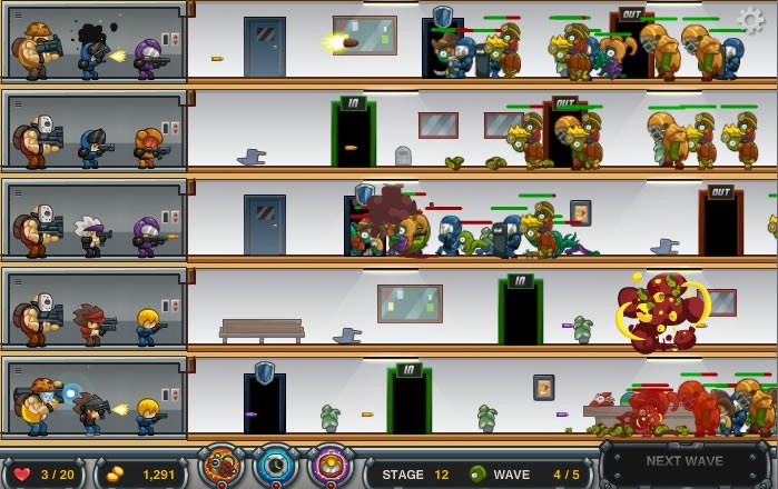 zombo buster strategy games shootem up games gamingcloud
