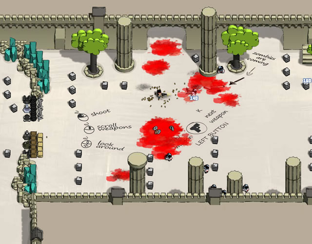 boxhead zombies 2 player full screen