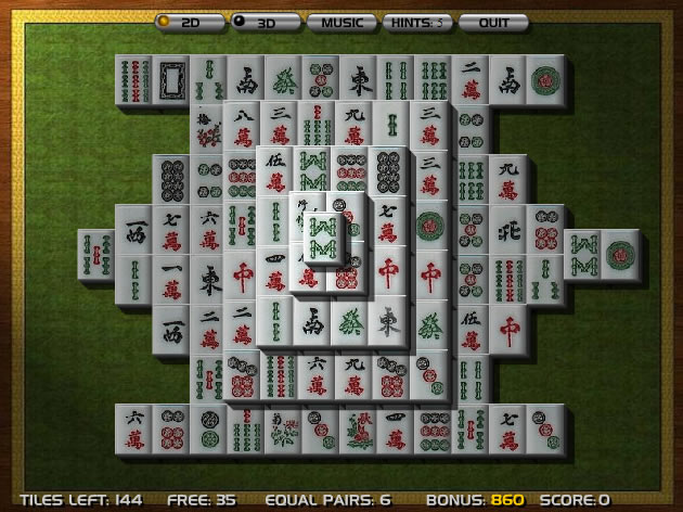 how to play mahjong solitaire with real tiles
