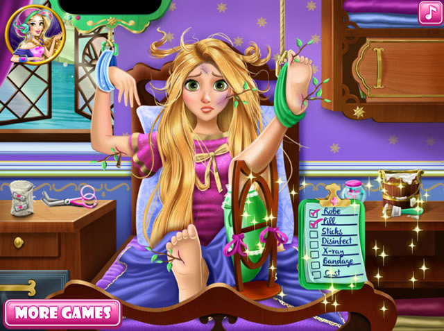 rapunzel hospital recovery m dchen spiele gamingcloud. Black Bedroom Furniture Sets. Home Design Ideas