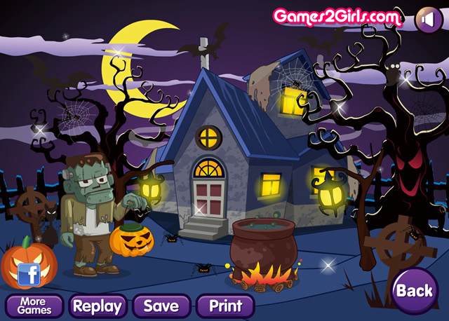 halloween house m dchen spiele gamingcloud. Black Bedroom Furniture Sets. Home Design Ideas