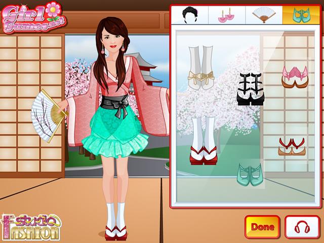 Fashion Studio Kimono Dress Girls Games Gamingcloud