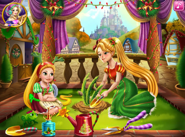 rapunzel mommy christmas tree m dchen spiele gamingcloud. Black Bedroom Furniture Sets. Home Design Ideas
