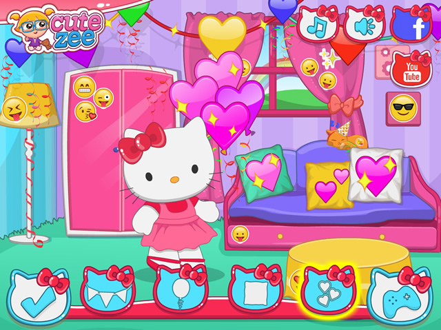 Hello Kitty Emojify My Party Girls Games Gamingcloud