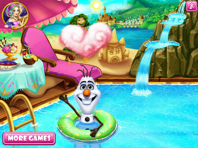 Olaf Swimming Pool Girls Games Gamingcloud