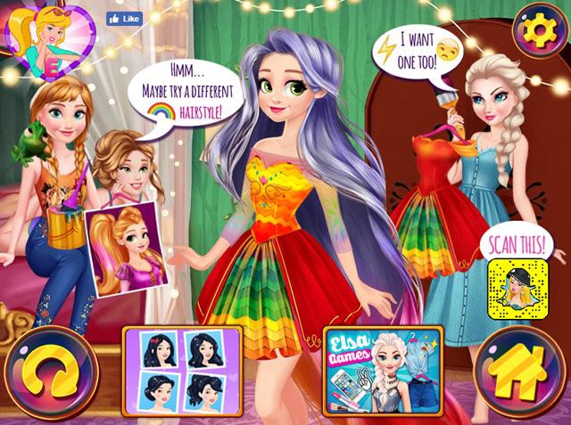 rapunzel design your rainbow dress m dchen spiele gamingcloud. Black Bedroom Furniture Sets. Home Design Ideas