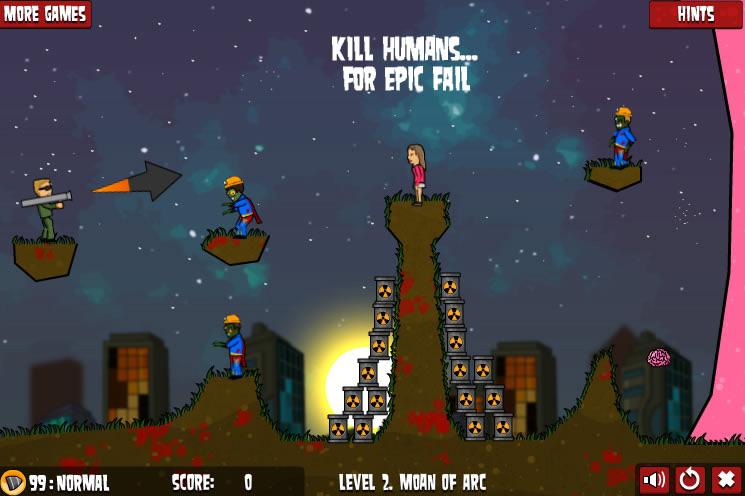flaming zombooka 2 level pack shootem up games